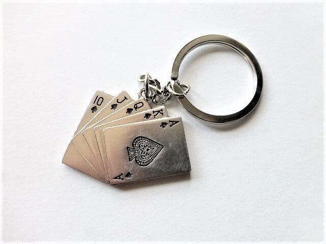 Póker kártya kulcstartó