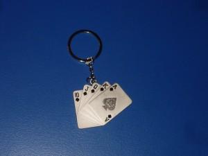 Póker kulcstartó