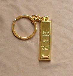 Aranyrúd kulcstartó