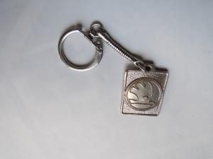 Skoda kulcstartó vintage használt