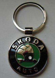 Skoda kulcstartó