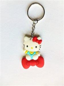 Hello Kitty cica kulcstartó