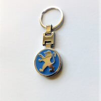 Peugeot kulcstartó kék