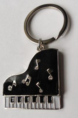 Zongora kulcstartó