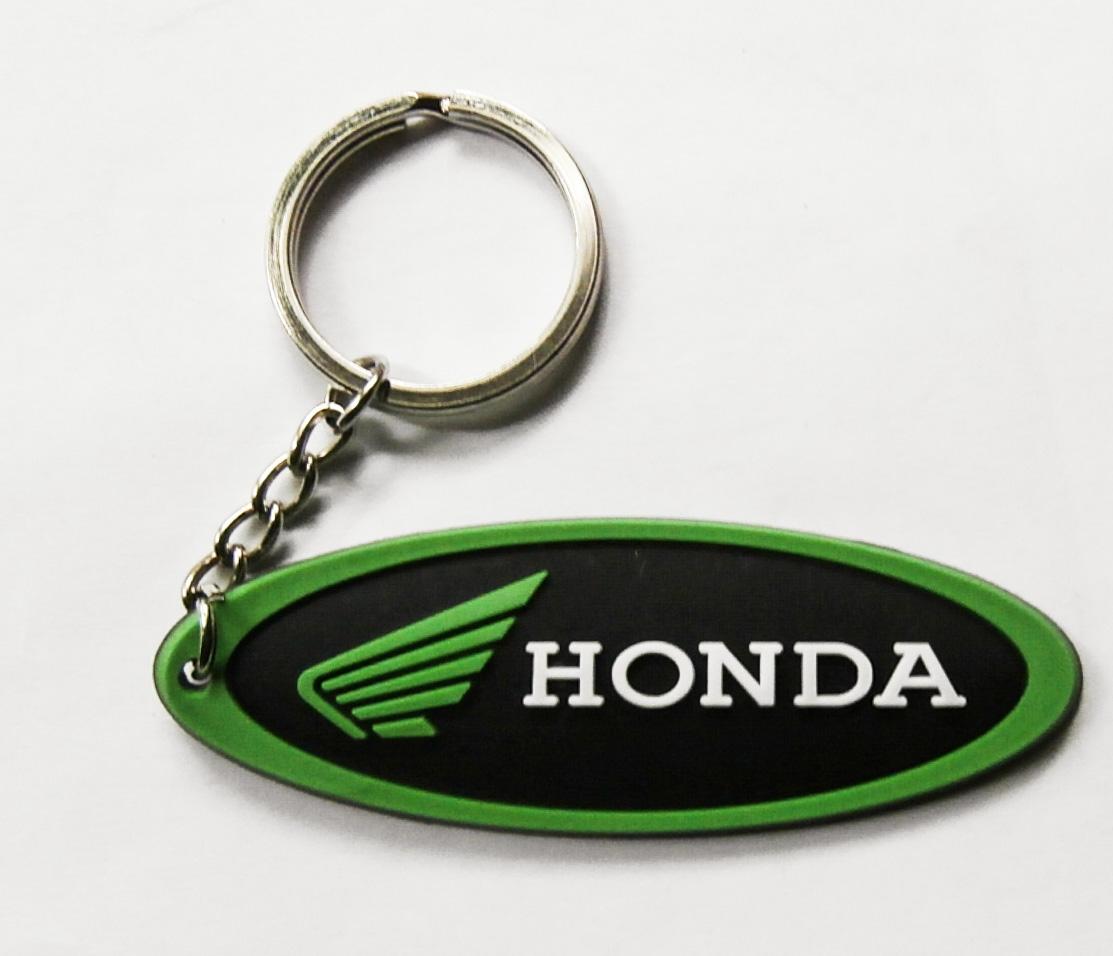 Honda motor kulcstartó zöld