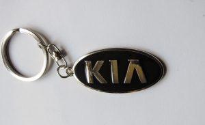 Kia kulcstartó fekete