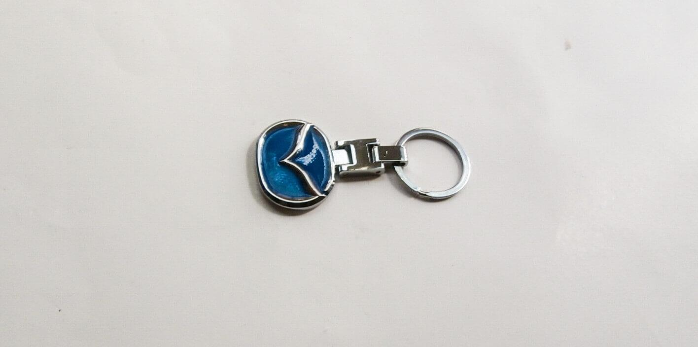 Mazda kulcstartó kék kétoldalas