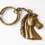 Ló lófej kulcstartó
