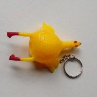 Tojásnyomós csirke kulcstartó