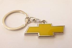 Chevrolet kulcstartó sárga
