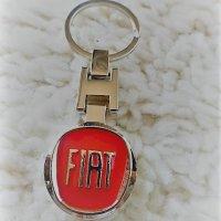 Fiat kulcstartó piros kétoldalas