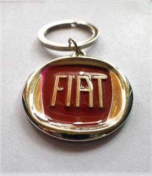 Fiat kulcstartó piros karika