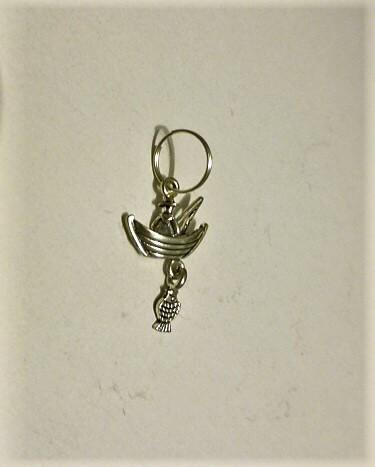 Horgász kulcstartó mini
