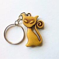 Cica macska kulcstartó