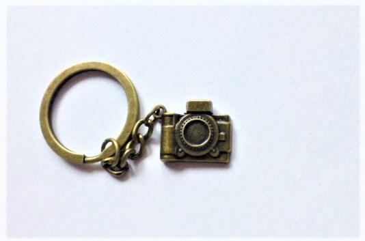 Fényképezőgép fotó kulcstartó