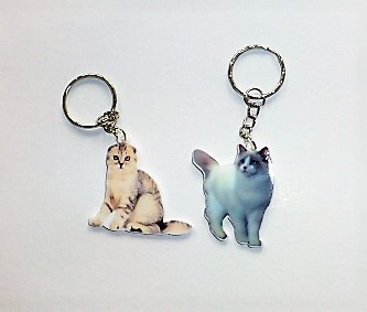 Cica macska kulcstartó műanyag