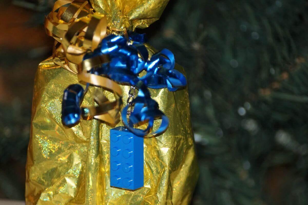 lego kulcstartó kék